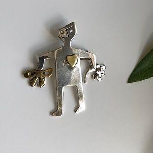 VTG Anne Harvey Mid Century Modern Pin Brooch